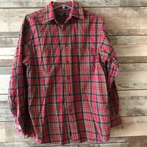 Roundtree & Yorke Outdoors flannel men's top Med